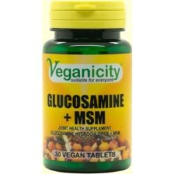 GLUCOSAMINE HCL + MSM 30 Vtabs/500mg